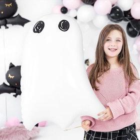 Folieballong - Spooky -Vit