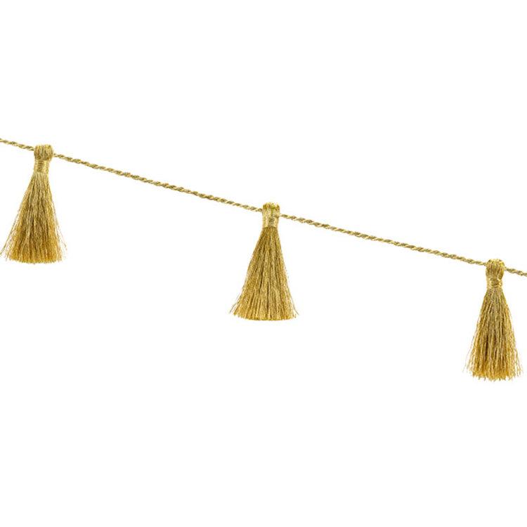 Vimpel - Mini Tassel - Guld