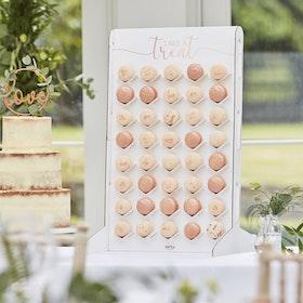 Macaron Stand - Vit/Roséguld