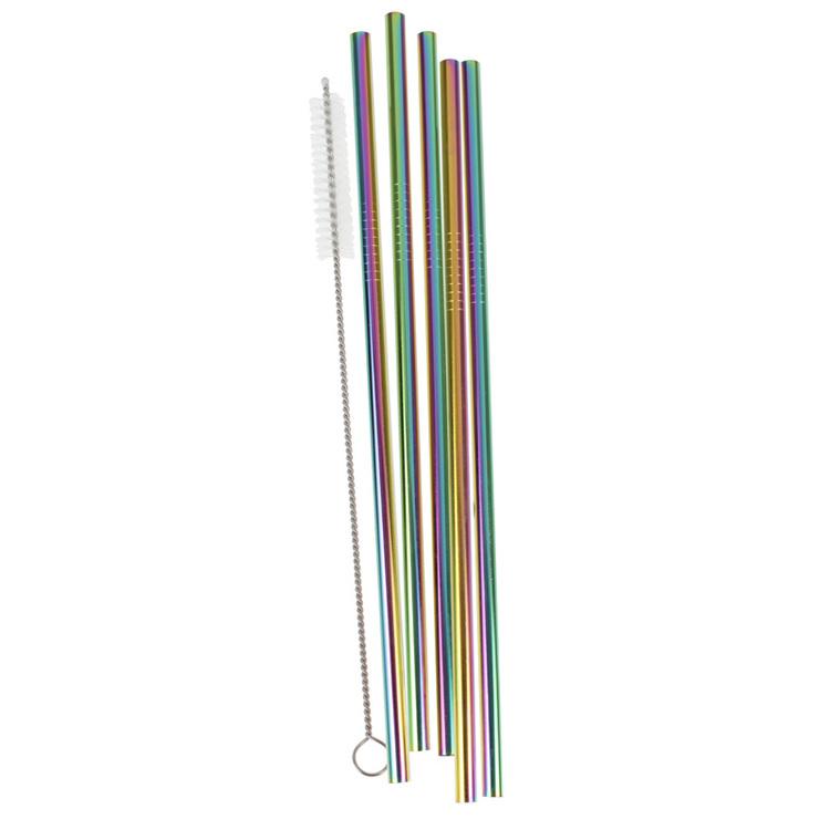 Sugrör - Rostfritt Stål - Rainbow