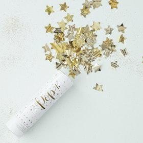 Konfettibomb - Stars - Metallic Guld