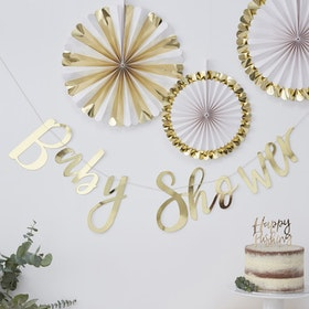 Girlang - Baby Shower - Gold