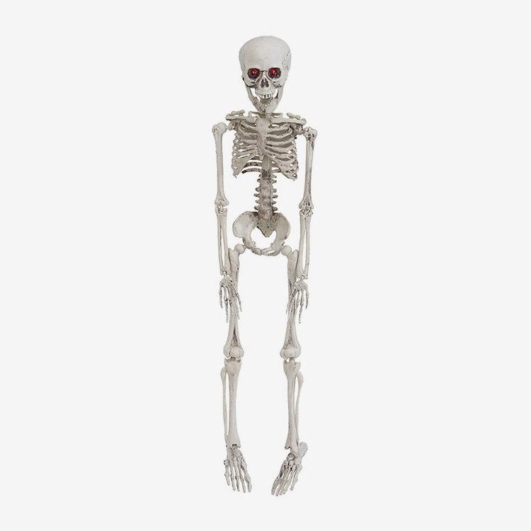 Hängande skelett med ljus