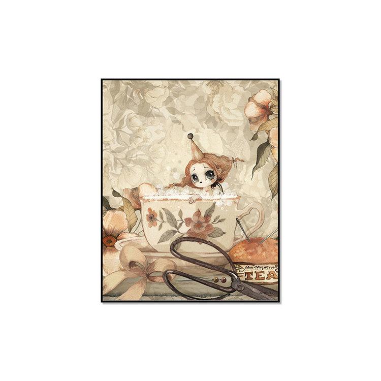The tea bath 40x50 - Mrs Mighetto