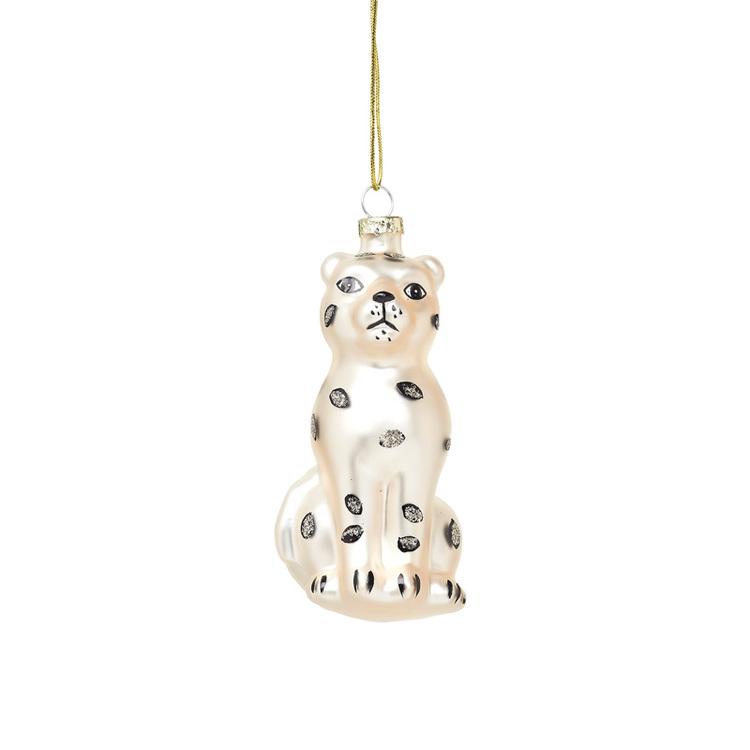 Julgranskula - Snöleopard