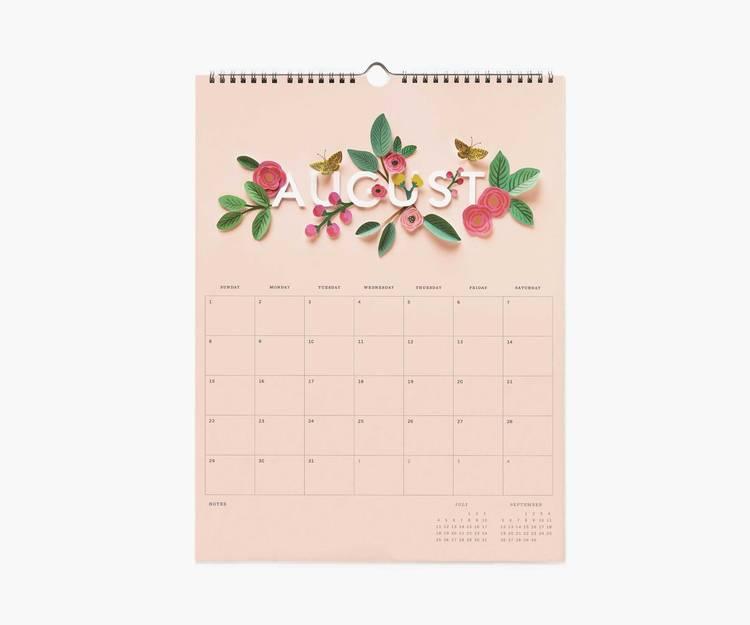 Väggkalender - 2021 Cut paper