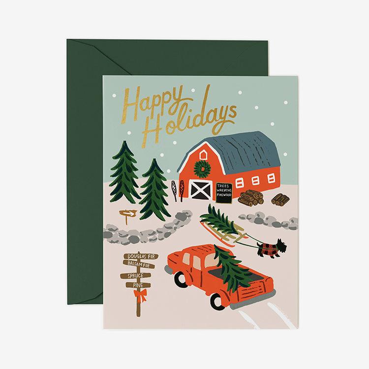 Julkort - Holiday Tree Farm