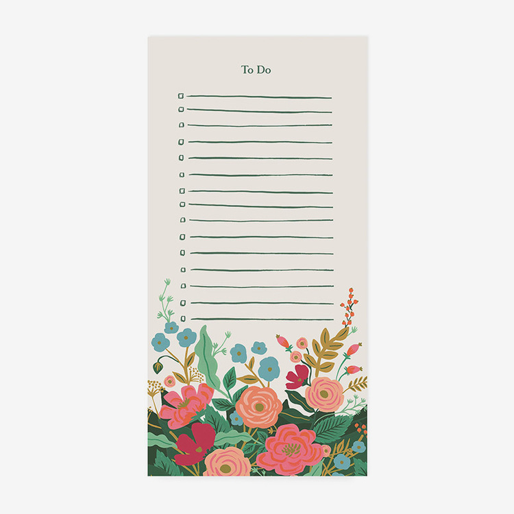 Anteckningsblock - To do List - Floral