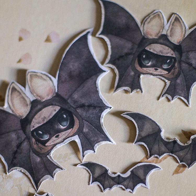 Paper Friends The Bats -  Mrs Mighetto