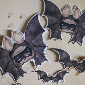 Paper Friends The Bats -  Mrs Mighetto