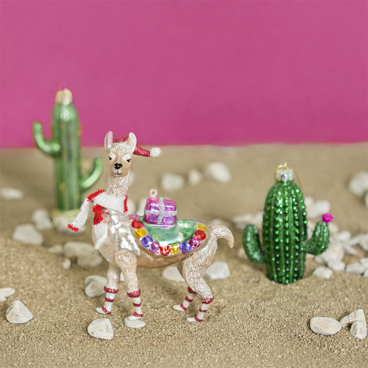 Julgranskula - Festive Llama