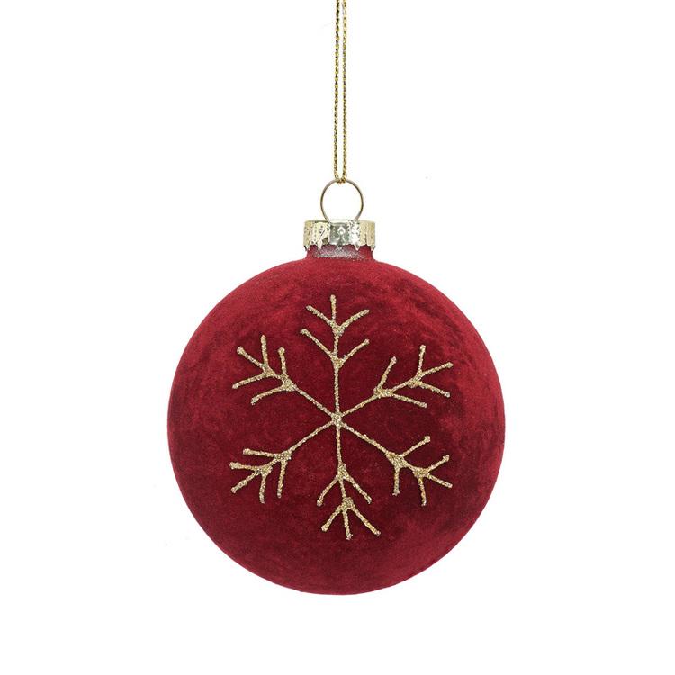 Julgranskula - Röd sammet