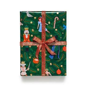 Presentpapper - Nötknäpparen - Grön