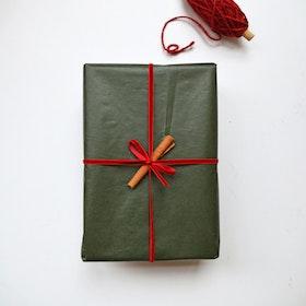 Presentpapper - Vaxat Grön