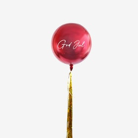 Ballongbukett - God Jul Röd