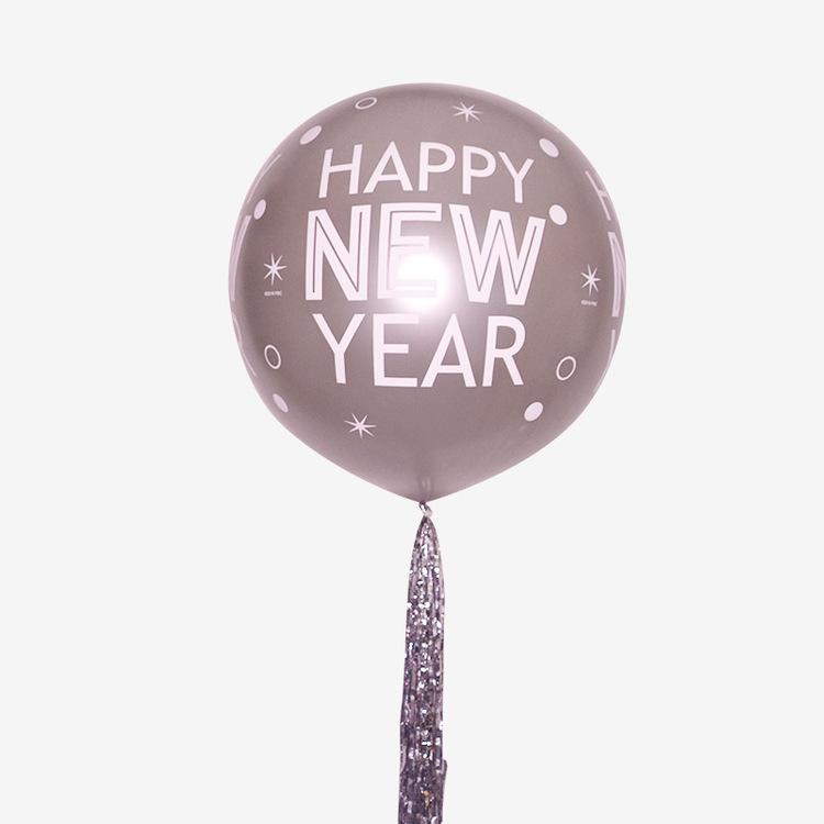 Jätteballong - Happy New Year med tail