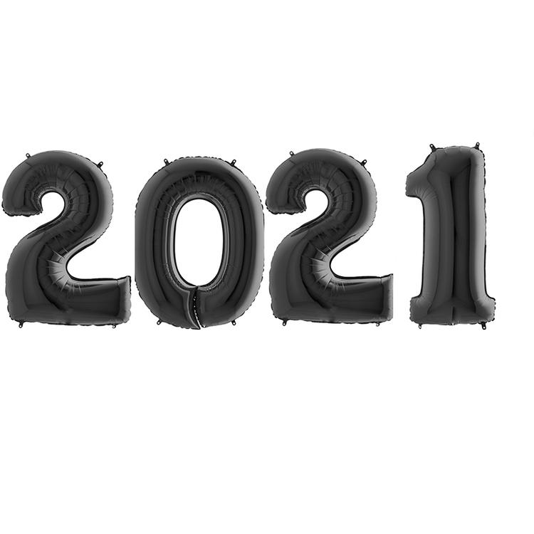 Sifferballonger 2021 - Svart