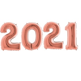 Sifferballonger 2021 - Roséguld