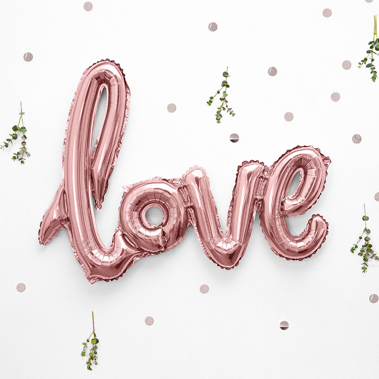 Folieballong - Love - Rosé