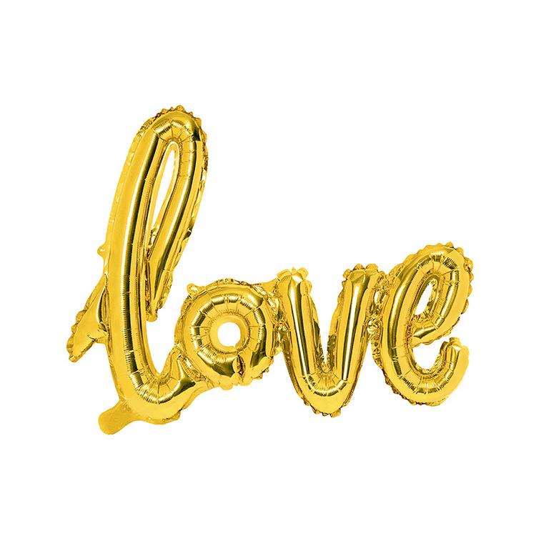 Folieballong - Love - Guld