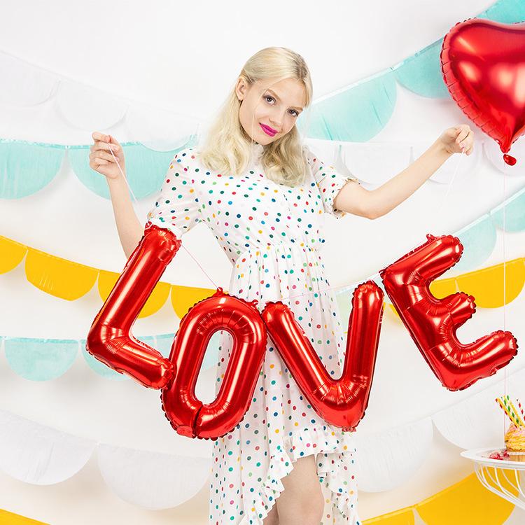 Folieballonger - Love - Röd