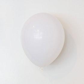 Heliumfylld latexballong 28cm - Vit