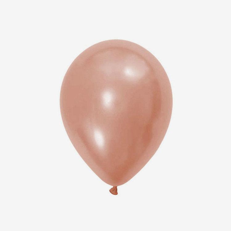 Heliumfylld latexballong 28cm - Roséguld