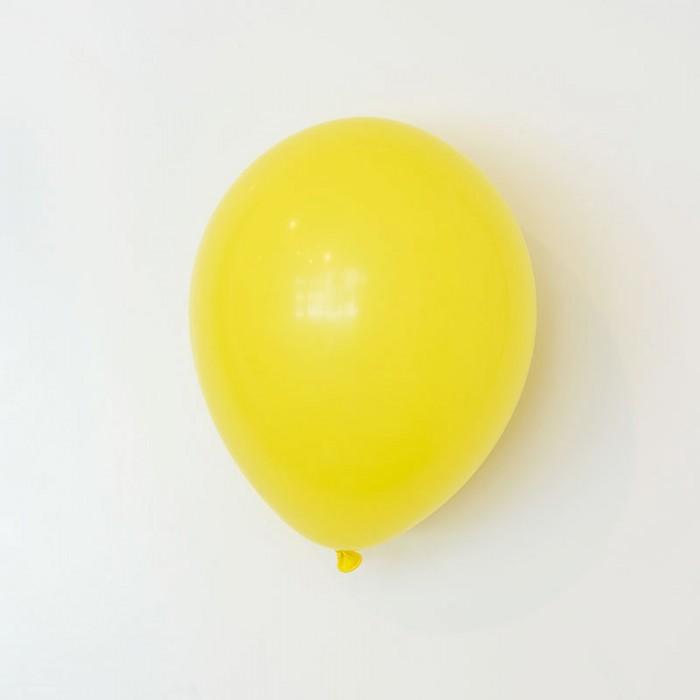 Heliumfylld latexballong 28cm - Gul
