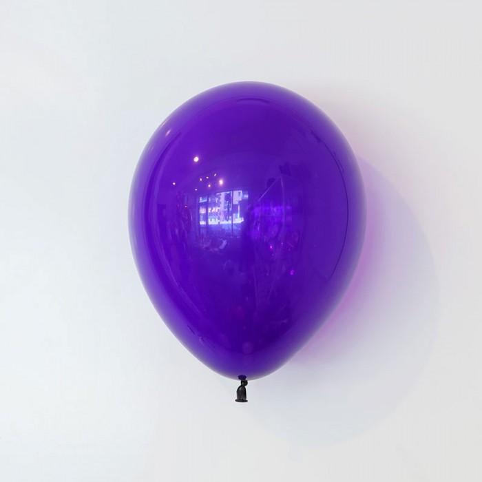 Heliumfylld latexballong 28cm - Violett