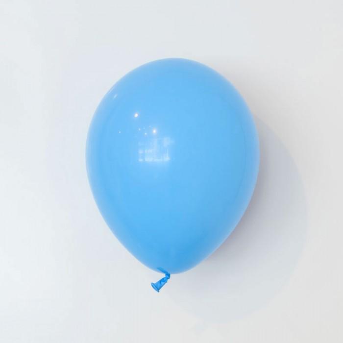 Heliumfylld latexballong 28cm - Ljusblå