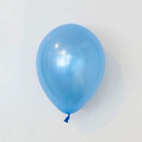 Heliumfylld latexballong 28cm - Pärlemo safir