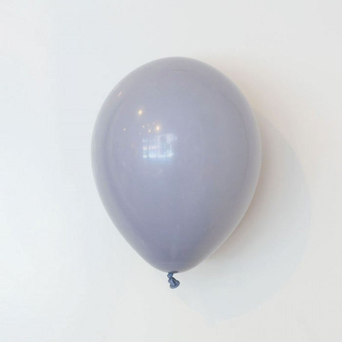 Heliumfylld latexballong 28cm - Grå