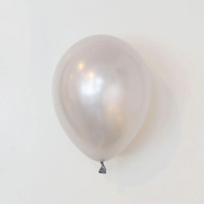 Heliumfylld latexballong 28cm - Silver