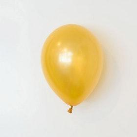 Heliumfylld latexballong 28cm - Guld