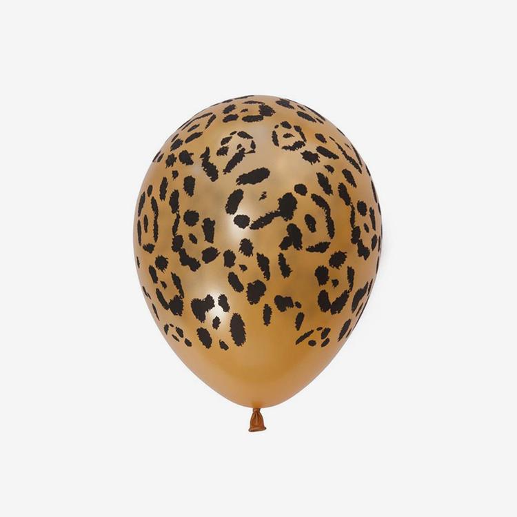 Heliumfylld latexballong 28cm - Leopard