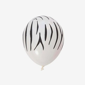Heliumfylld latexballong 28cm - Zebra