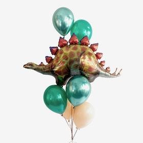Heliumfylld Ballongbukett - Dino Roar