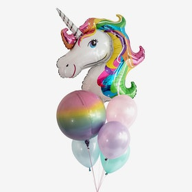 Heliumfylld Ballongbukett - Unicorn Dreams