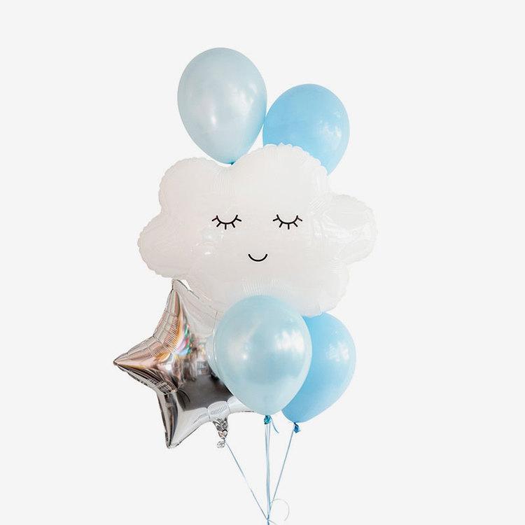 Heliumfylld Ballongbukett - Sleepy Skies