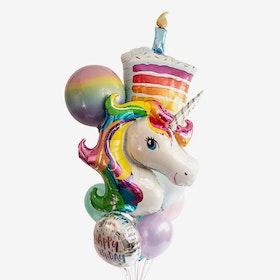 Heliumfylld Ballongbukett - Rainbow Explosion