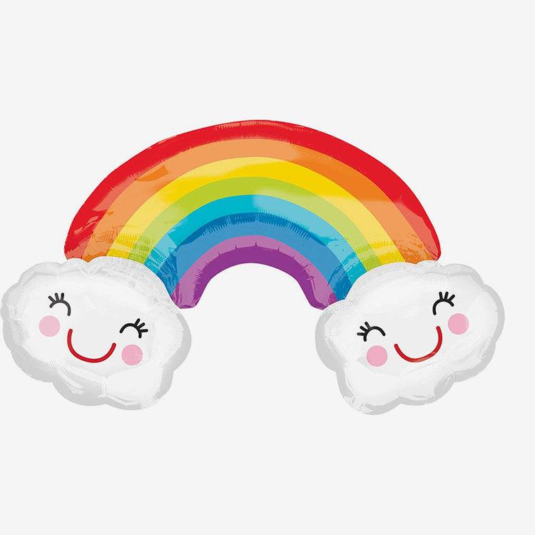 Heliumfylld ballong - Happy Rainbow