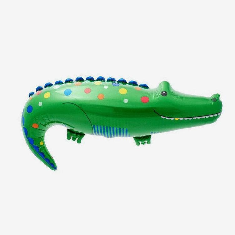 Heliumfylld folieballong - Krokodil