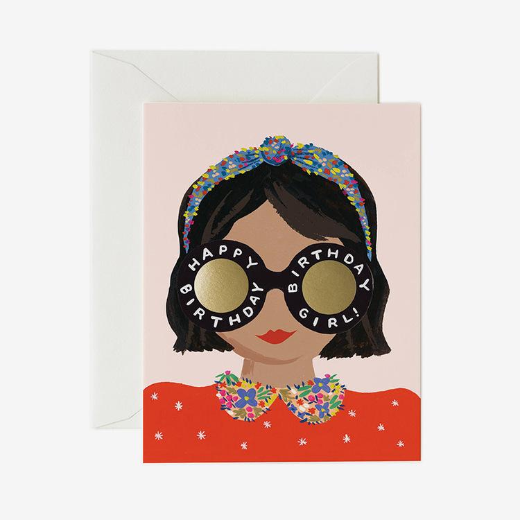 Kort - Headband Birthday Girl