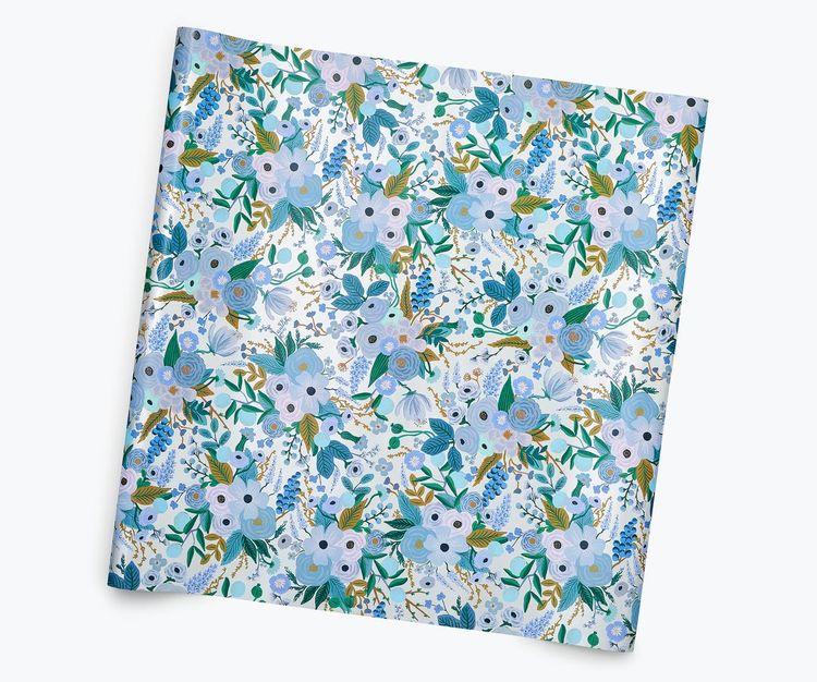 Presentpapper - Garden Party Blue