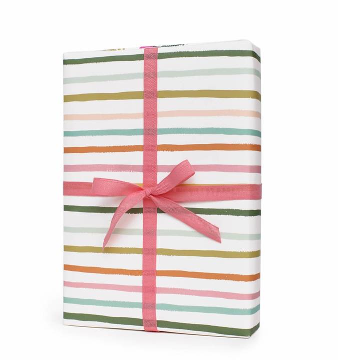 Presentpapper Happy stripes