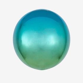 Heliumfylld Folieballong - Orbz Ombre Blue & Green
