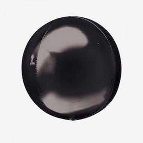 Heliumfylld Folieballong - Orbz Svart