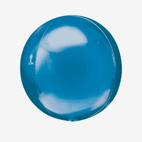 Heliumfylld Folieballong - Orbz Blå