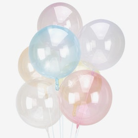 Heliumfylld Ballongbukett - Crystal Clear