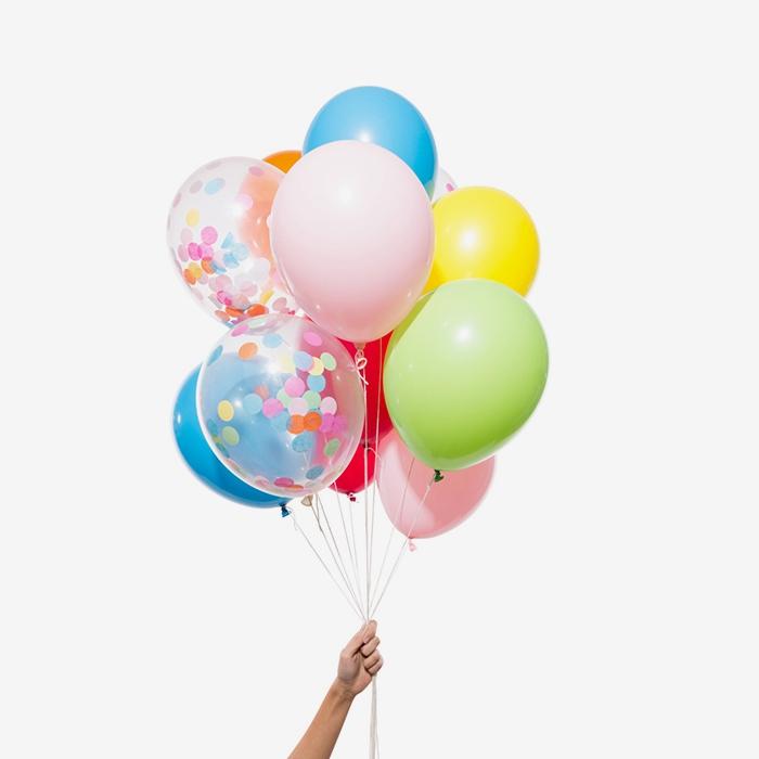 Heliumfylld Ballongbukett - Rainbow